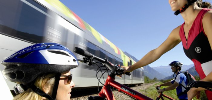 With the train and the bike across South Tyrol, Italy