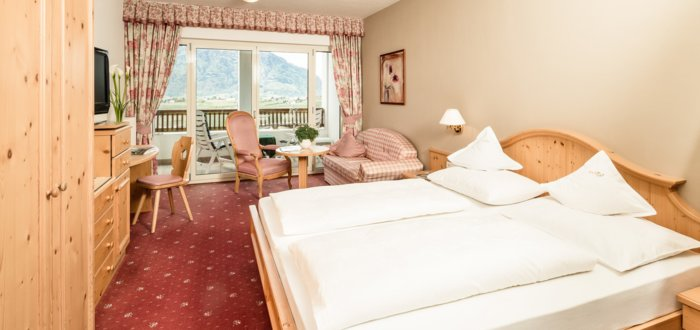 Double room A of the Hotel Tyrol in Schenna, Italy